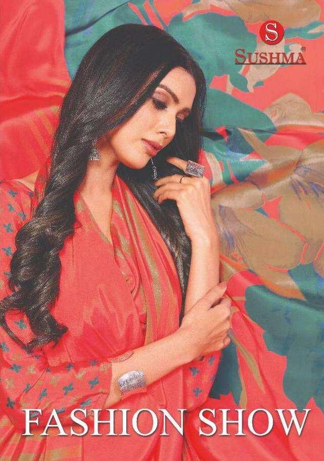 Sushma Fashion Show Printed Crape Sarees