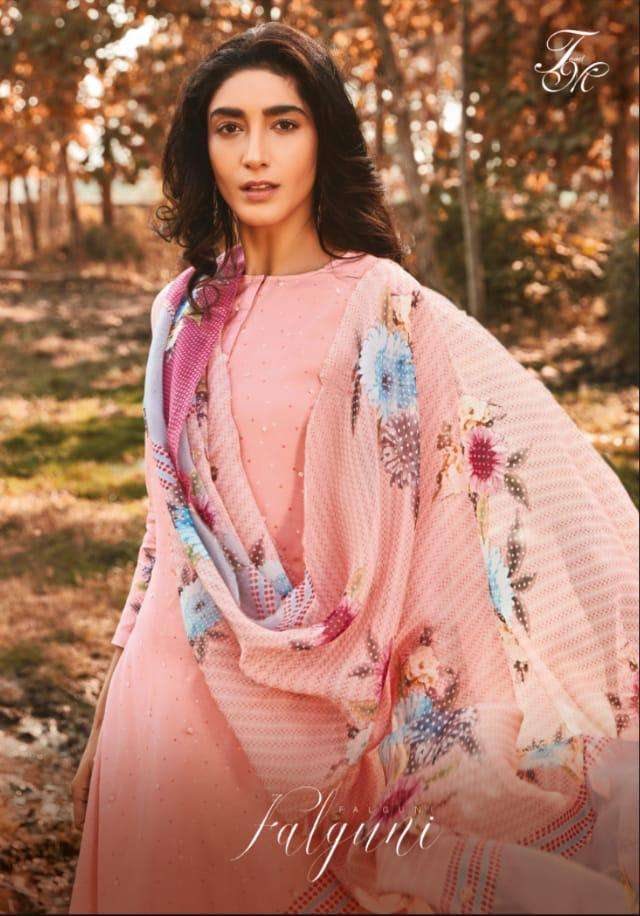 T&m Falguni Muslin Silk Designer Fancy Suits