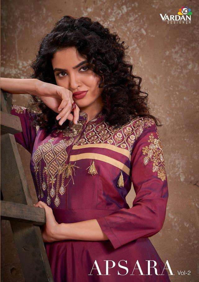 Vardan Apsara Vol 2 Silk Readymade Long Gown With Designer Dupatta