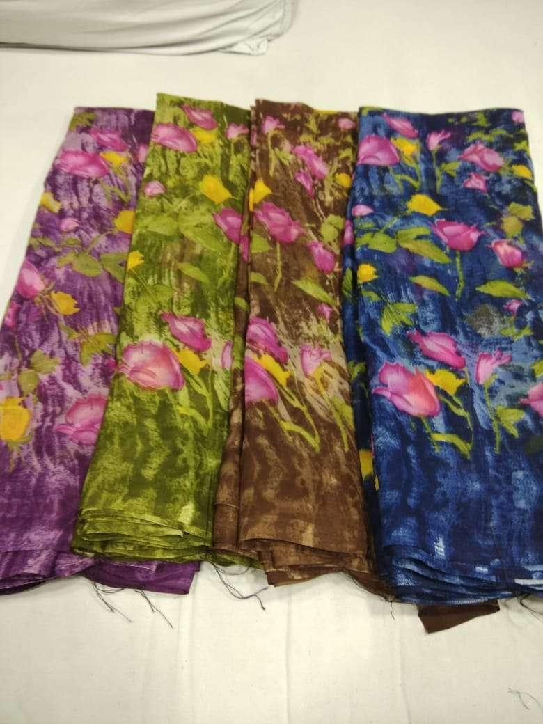 60 Gram Georgette Soft Printed Casual Wear Ladies Saree Exports