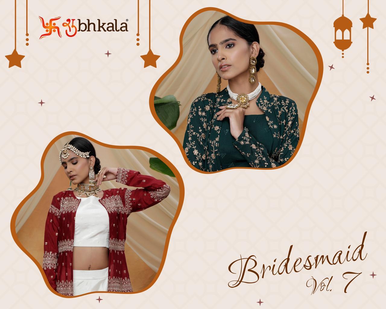 Bridesmaid Vol 7 koti style lehenga choli design best rates