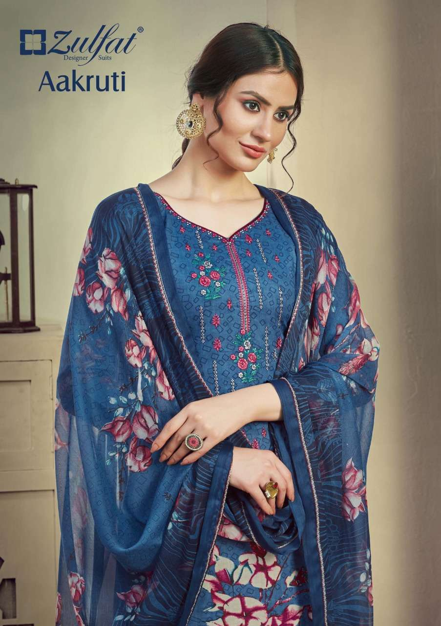 Aakruti By Zulfat Cotton Suits With 3 Mtr Bottom