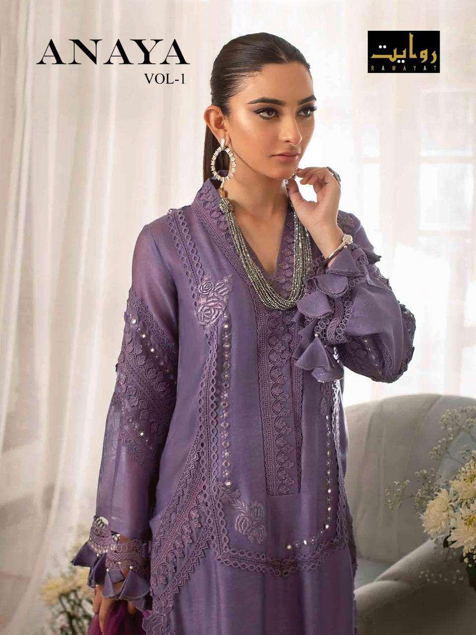 Anaya Vol 1 By Rawayat Cotton Pakistani Fancy Suits