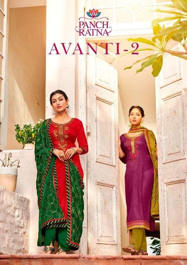 Avanti Vol 2 By Panch Ratna Cotton Satin Casual Dresses