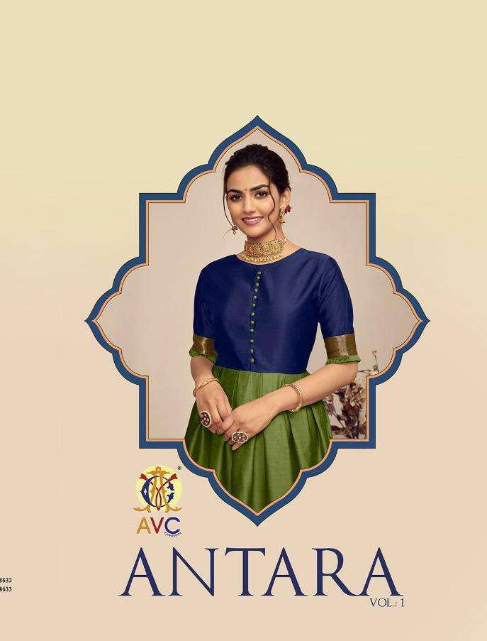 Avc Antra New Colours Silk Jacquard Designer Gown