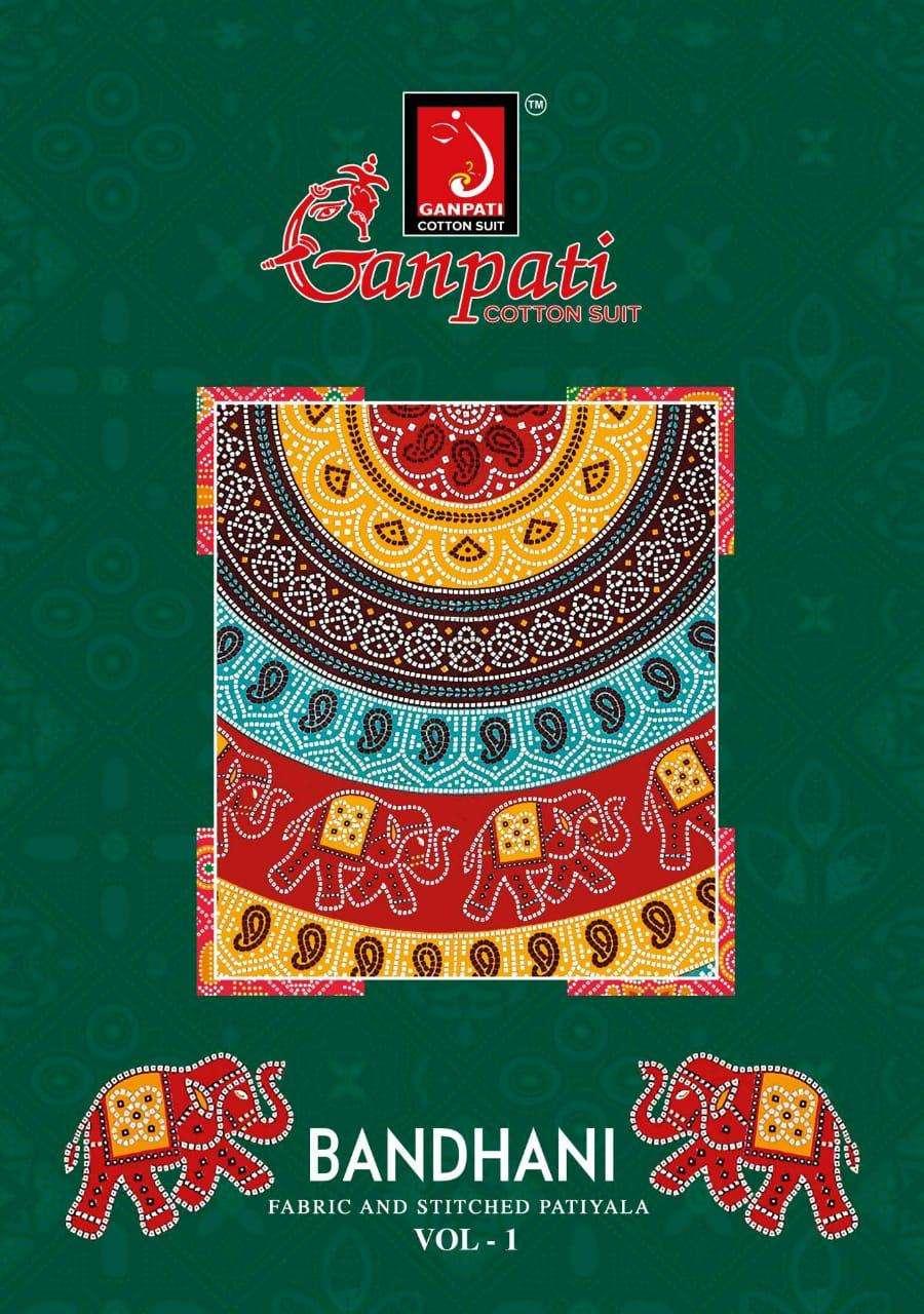 Bandhani Vol 1 By Ganpati Cotton Readymade Patiyala Suits