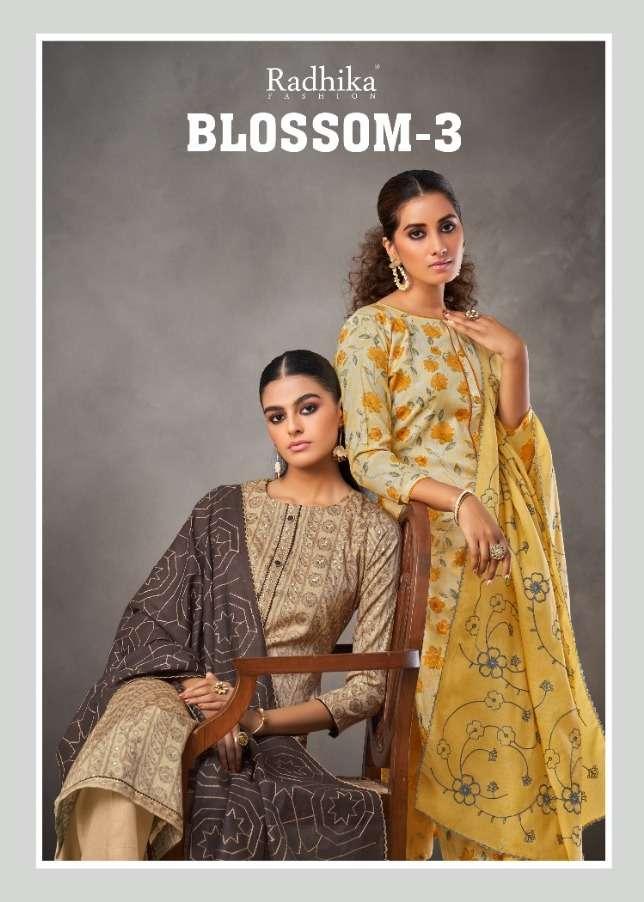 Blossom Vol 3 By Radhika Cotton Fancy Dress Materials