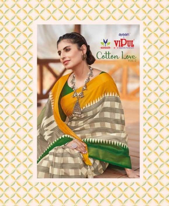 Cotton Love Vol 2 By Vipul Fashion Wholesale Saree For Summer