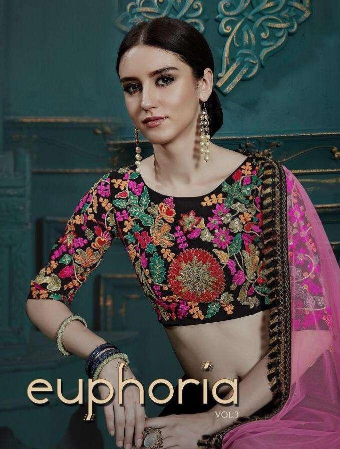 Euphoria Vol 3 By Arya Georgette Classy Look Fancy Lehenga
