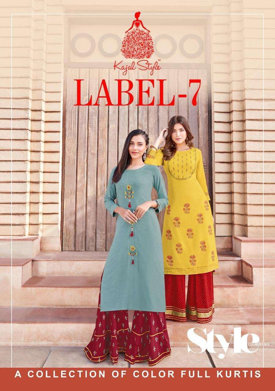 Fashion Label Vol 7 By Kajal Rayon Kurti Plazzo Collection