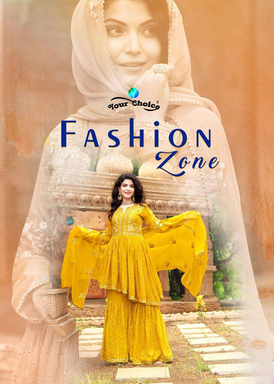 Fashion Zone By Your Choice Georgette Work Peplon Salwar Kameez