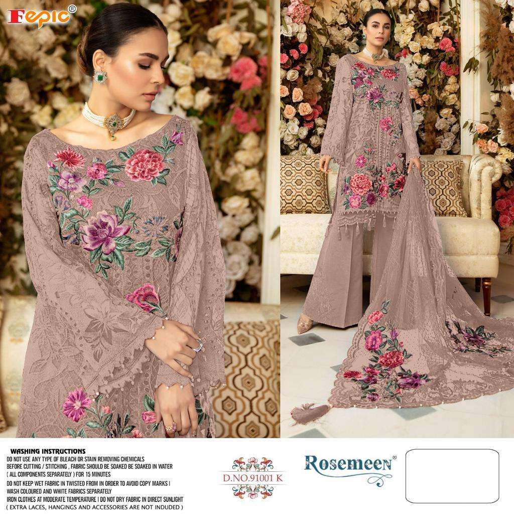 Fepic 91001 Net Patch Work Embroidery Pakistani Suits