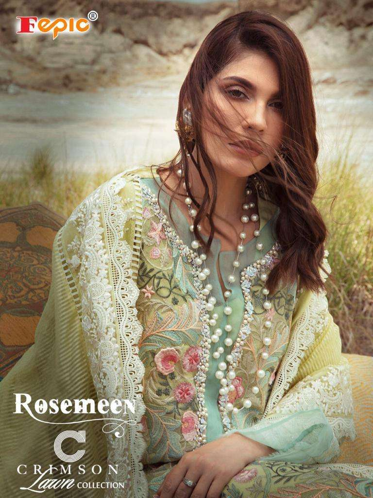 Fepic Crimson Lawn Cotton Pakistani Suits