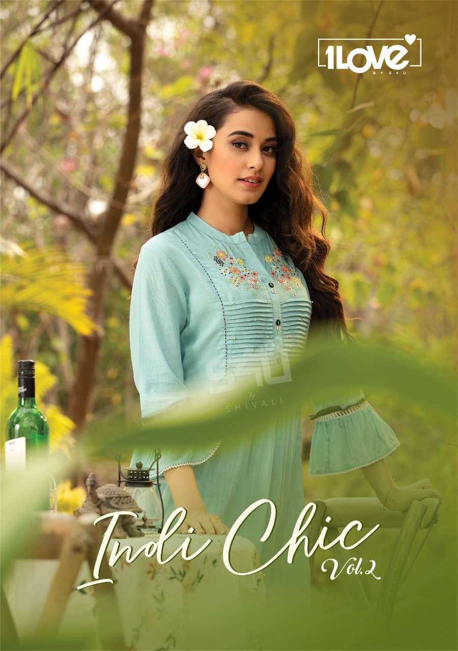 Indi Chic Vol 2 By 1love Rayon Kurti And Pant By S4u