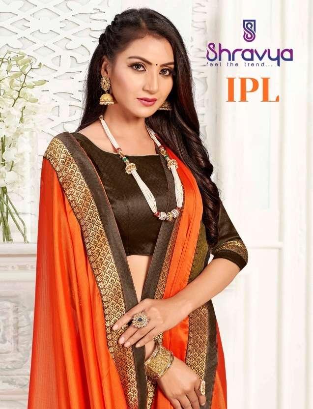 Ipl By Shravya Fashion Silk Chiffon Fancy Saree