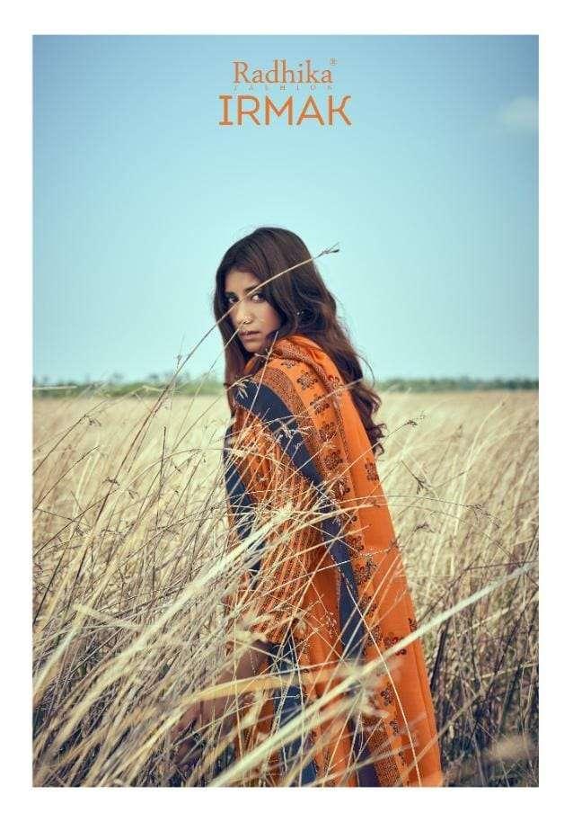 Irmak By Radhika Jam Cotton Casual Wear Fancy Suits