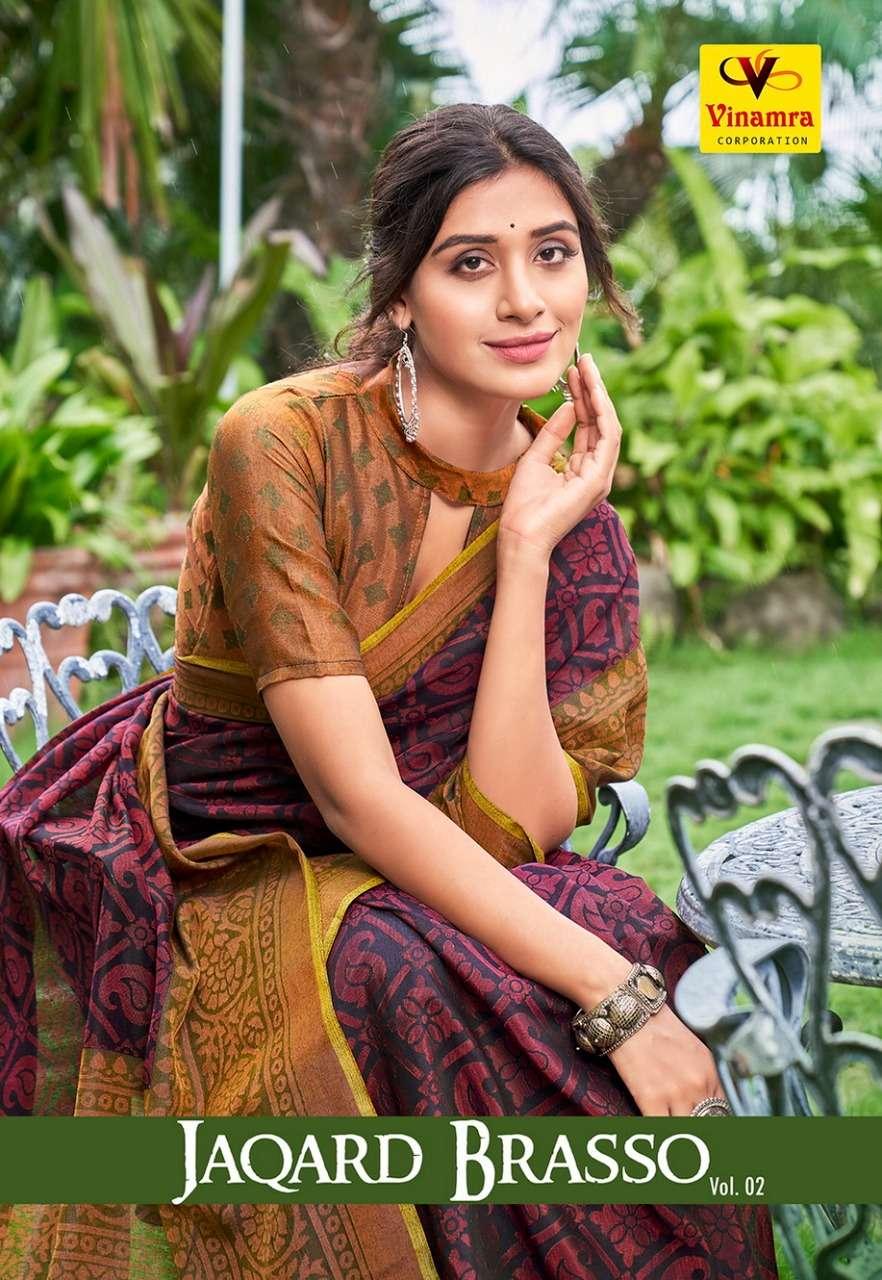 Jaqard Brasso Vol 2 By Vinamra Fancy Saris Wholesaler
