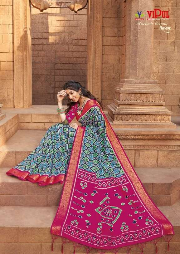 Kashmir Beauty By Vipul Rang Raas Silky Fancy Sarees