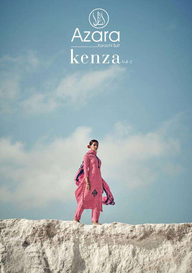 Kenza Vol 2 By Radhika Cotton Slub Dress Materials