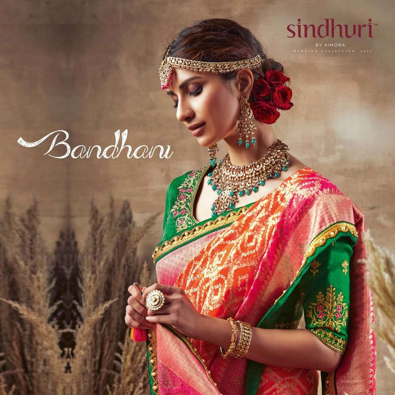 Kimora Bandhani By Sindhuri Party Wear Heavy Fancy Saree
