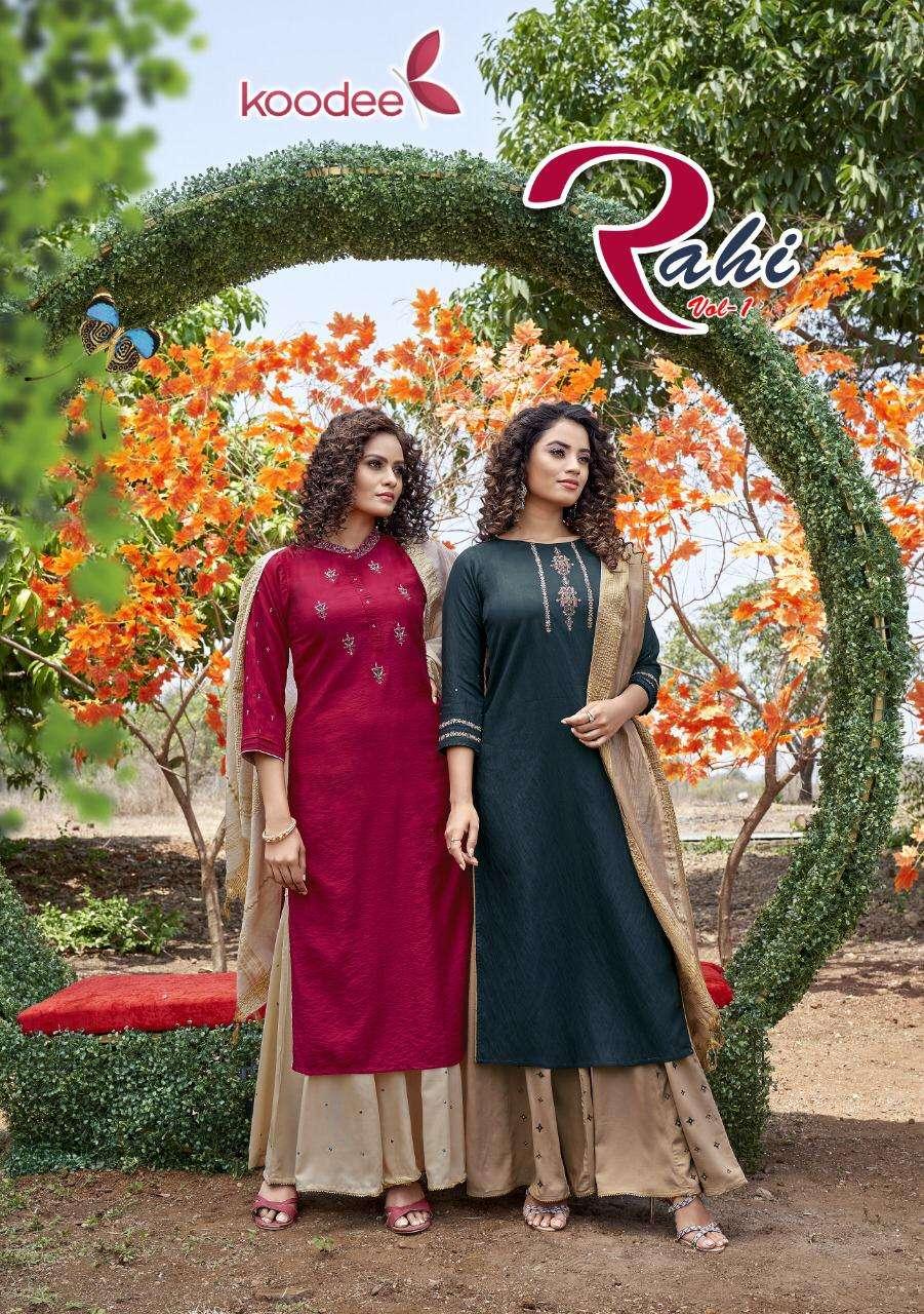 Koodee Rahi Readymade Kurti Sharara With Dupatta