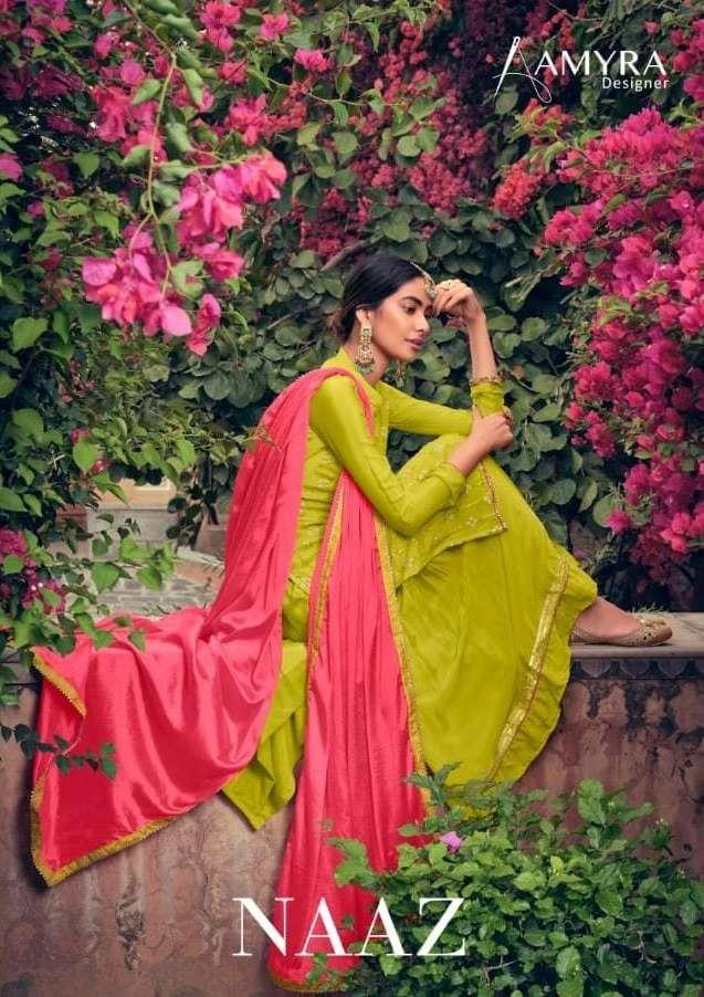 Naaz By Amyra Elegnat Heavy Garara Suits Supplier
