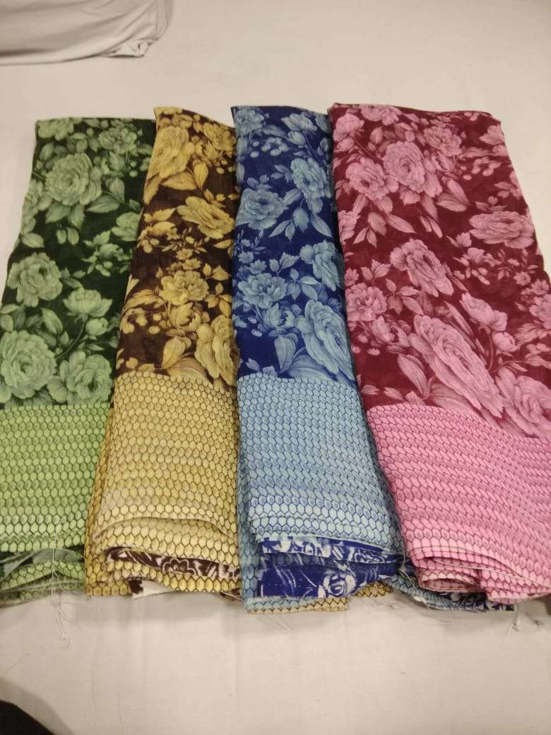 Narmada Marble Casual Daily Wear Chiffon Saree At Chipest Price In Surat Market