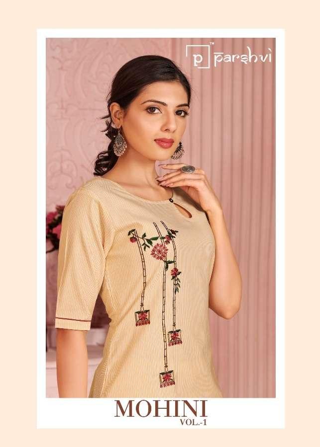 Parshvi Mohini Cotton Fancy Kurti