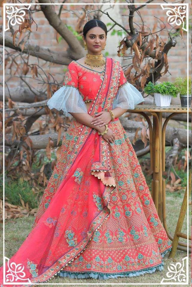 Peafowl Vol 76 Pashmina Silk Designer Lehenga Collection