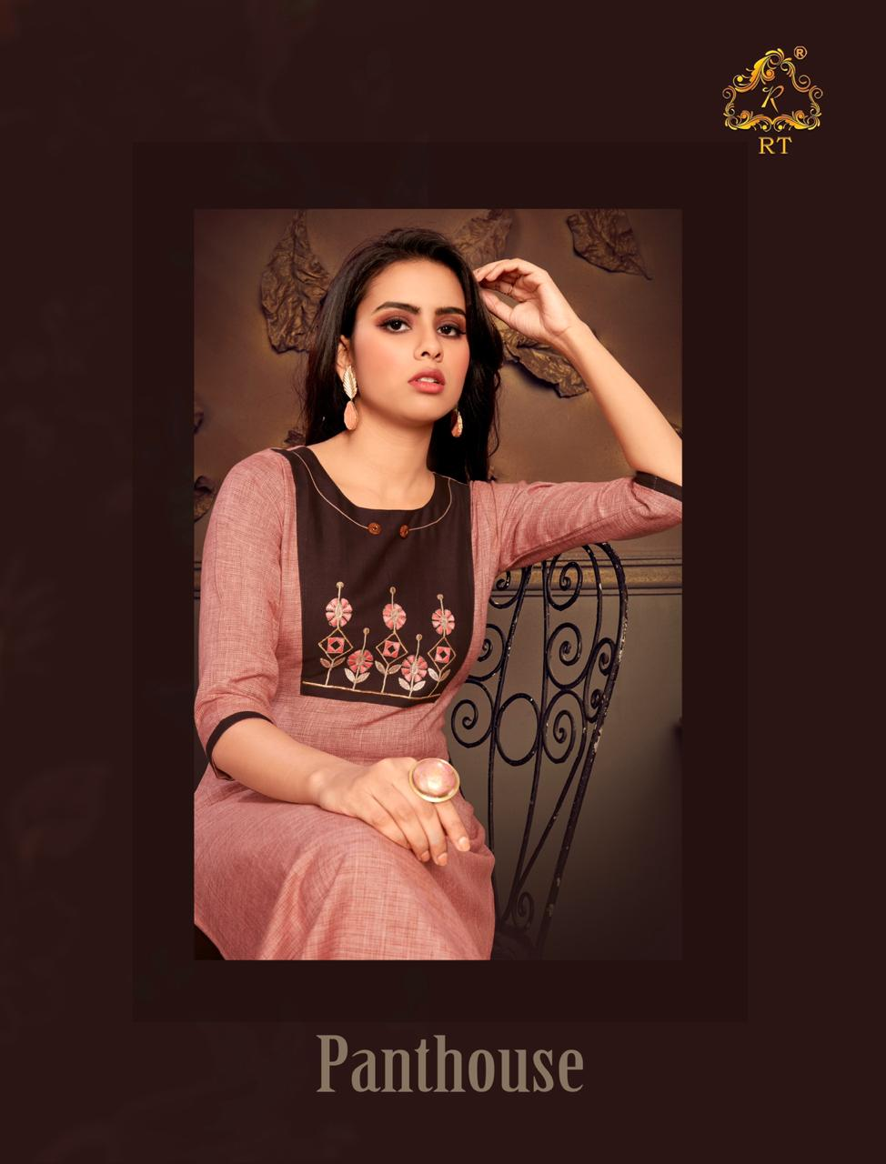 Penthouse By Rijiya Trends Fancy Kurti With Cotton Pant Pair Collection
