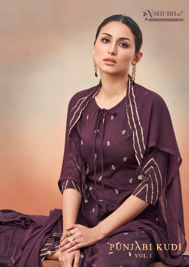 Punjabi Kudi By Shubh Nx Readymade Sharara Suits