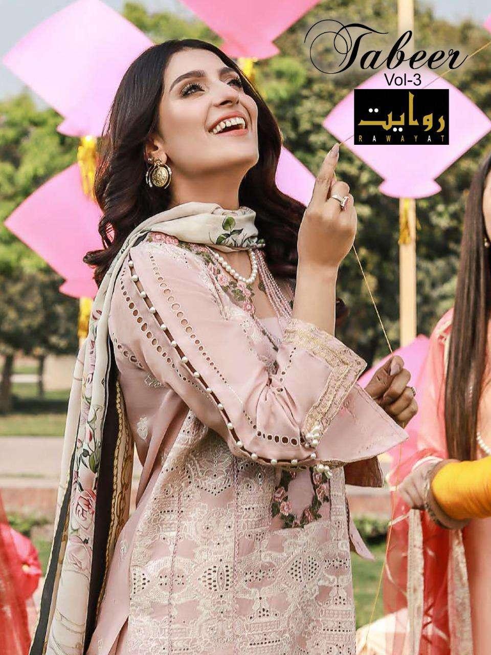 Rawayat Tabeer Vol 3 Cotton Pakistani Designer Suits