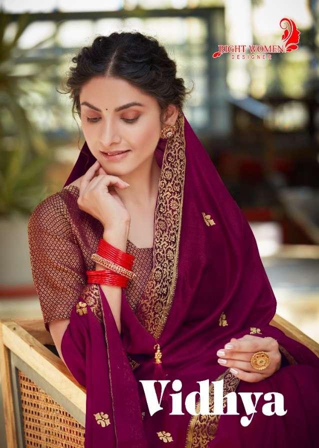 Right Women Vidhya Vichitra Silk Fancy Sarees