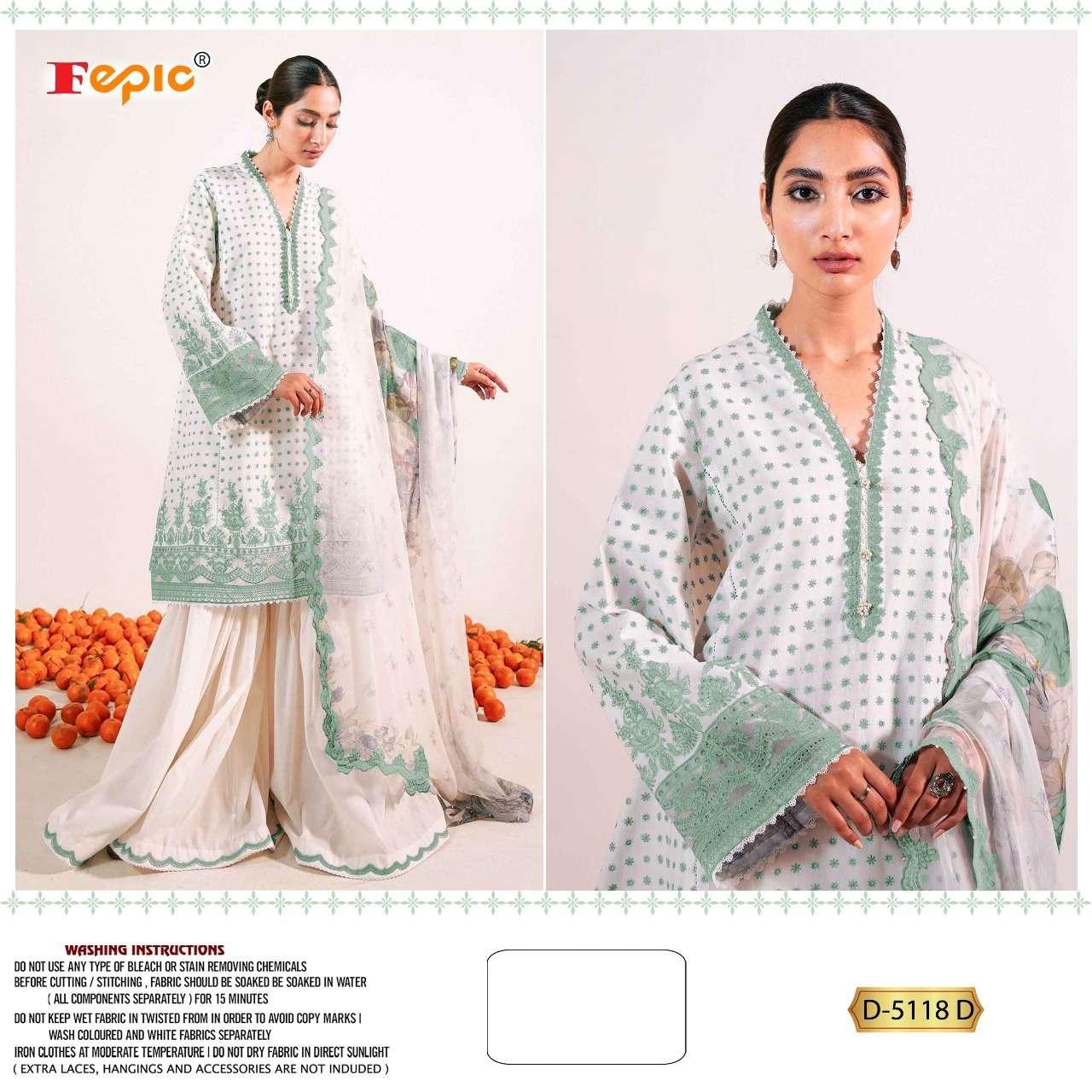 Rosemeen D 5118 By Fepic Cotton Pakistani Suits