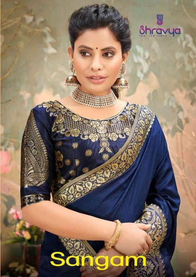 Sangam By Shravya Dolla Silk Designer Fancy Saree