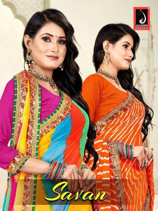 Savan By Jalnidhi Printed Bandhani Designer Saree