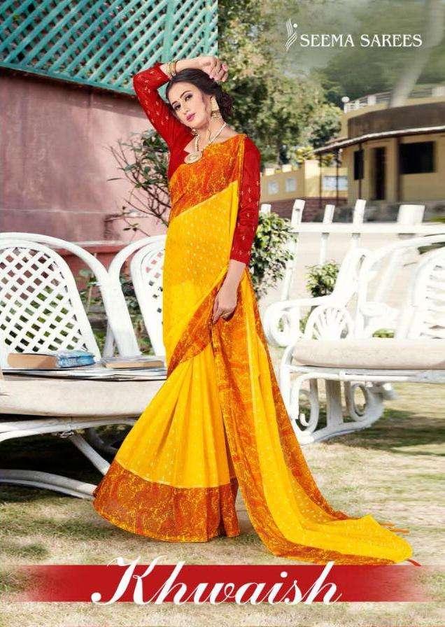 Seema Saree Khwaish 60 Gram Georgette Printed Saree