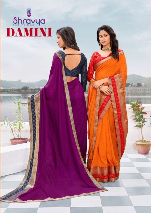 Shravya Damini Vichitra Silk Classy Saree Supplier