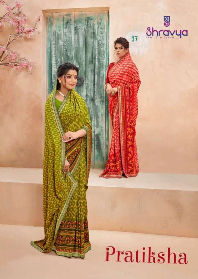 Shravya Pratiksha Vichitra Silk Printed Saree Wholesaler