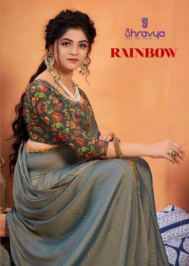 Shravya Rainbow Designer Fancy Saree