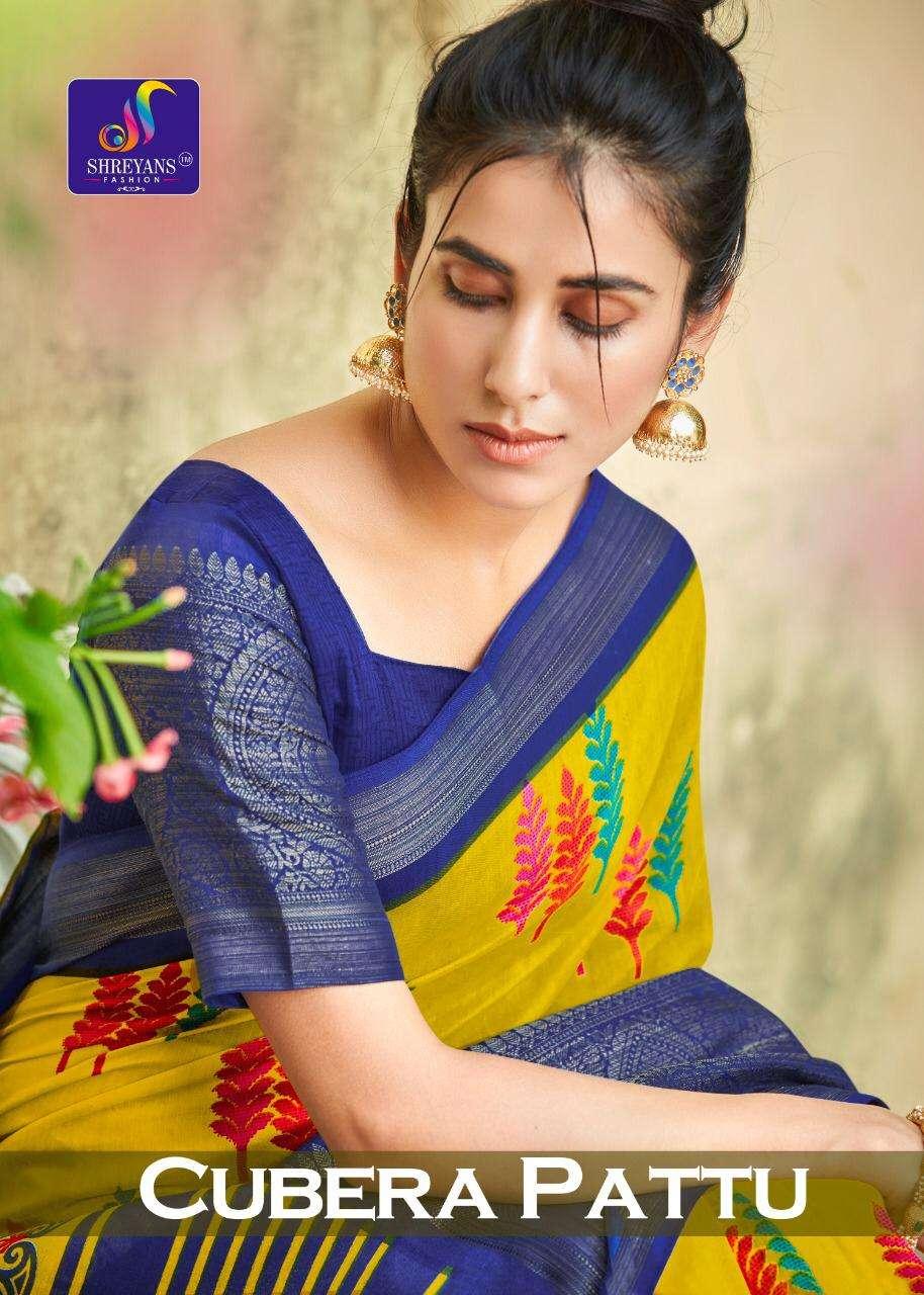 Shreyans Cubera Pattu Cotton Silk Fancy Sarees