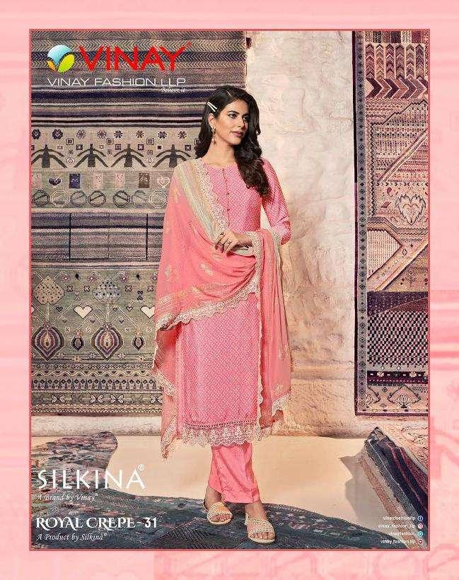 Silkina Royal Crape Vol 31 By Vinay Classy Fancy Dresses