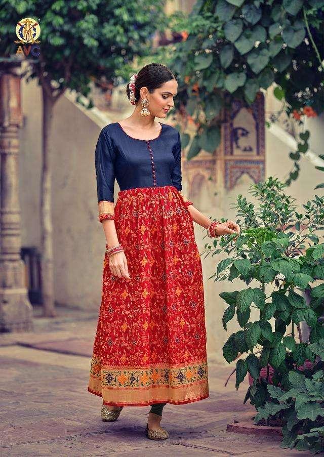 Sohana By Avc Lichi Minakari Jacquard Long Gowns