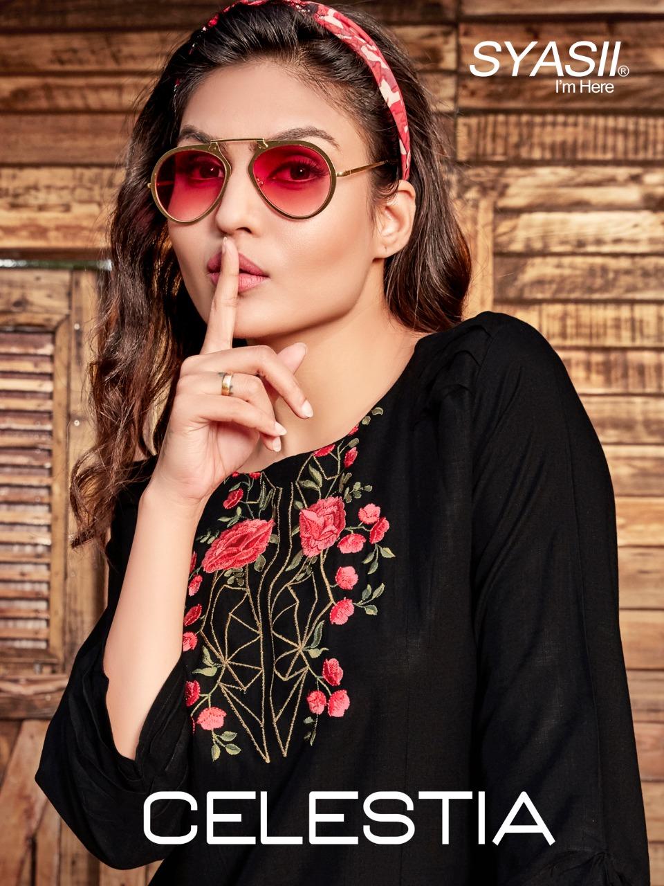 Syasii Designer Launch Celestia Rayon Slub Short Top For Girls Collections
