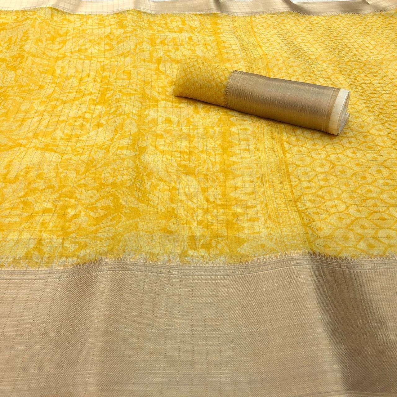 Tana Bana Pattu By Shreyans Organza Kadi Silk Designer Saree