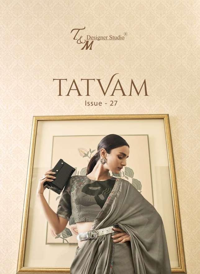Tatvam Vol 27 By T & M Designer Fancy Sarees