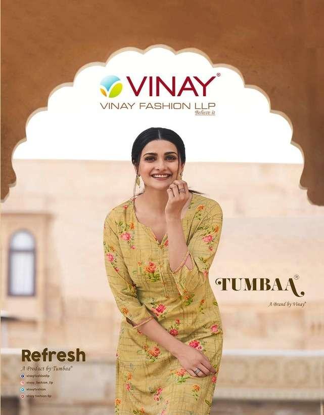 Vinay Tumbaa Refresh Designer Fancy Kurti With Pant Supplier