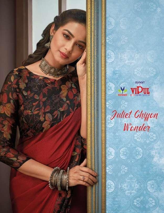 Vipul Juliet Chiffon Wonder Printed Daily Wear Saree