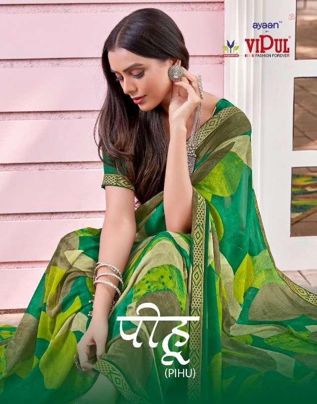 Vipul Pihu Georgette Printed Designer Saree