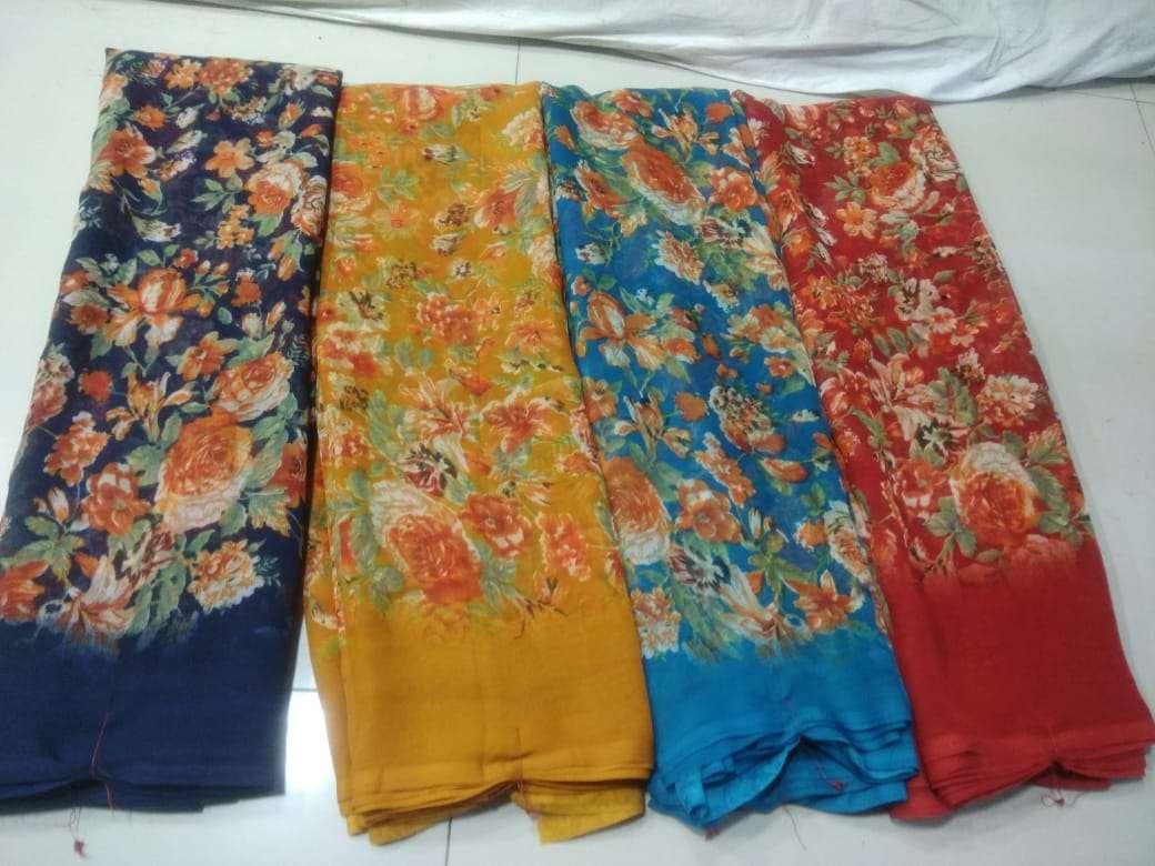 Weightless Printed Casual Wear Saris Manufacturer